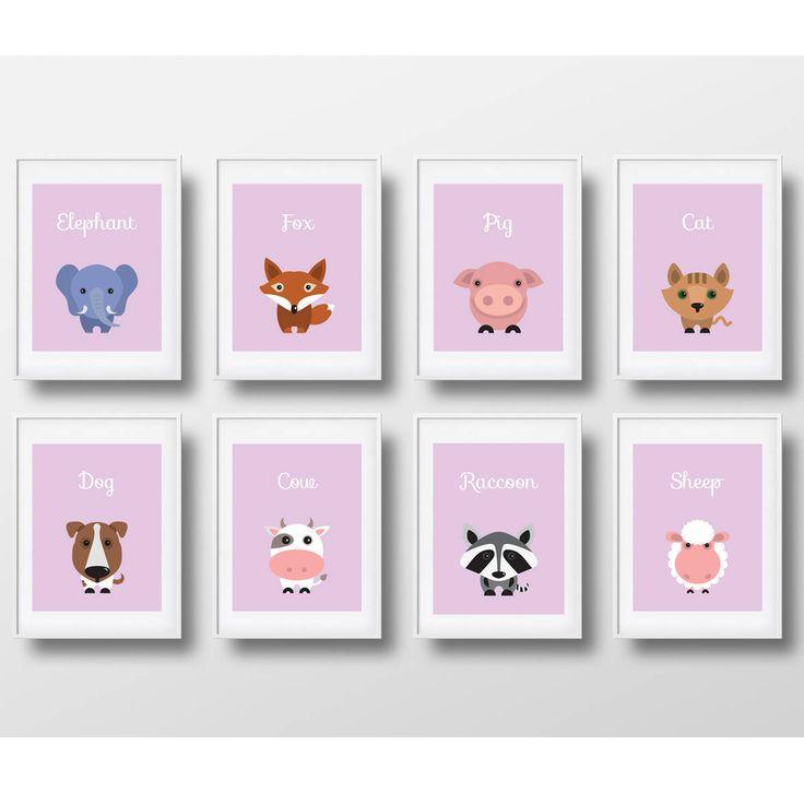 Un favorito personal de mi tienda de Etsy https://www.etsy.com/es/listing/540758306/animals-decoration-for-girls-printable
