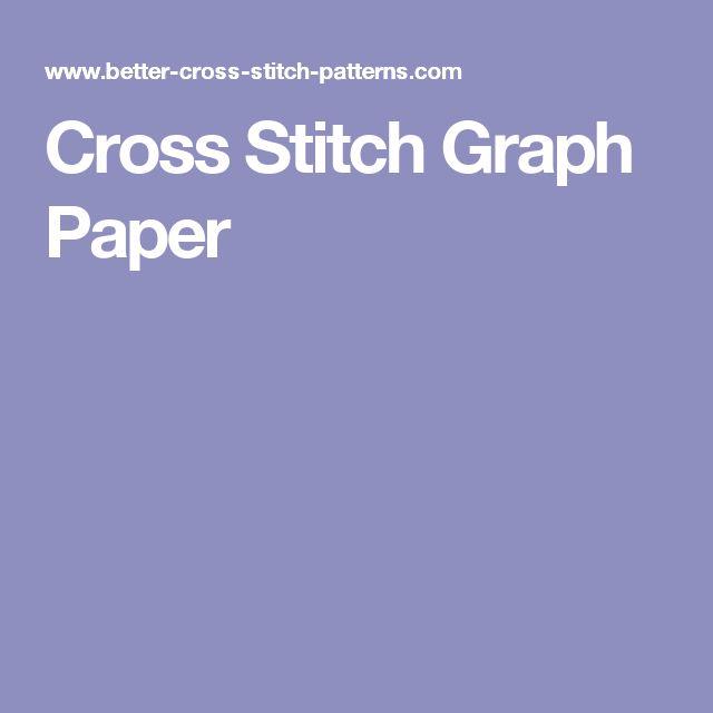 36 best Cross stitch patterns images on Pinterest Cross stitch - cross stitch graph paper