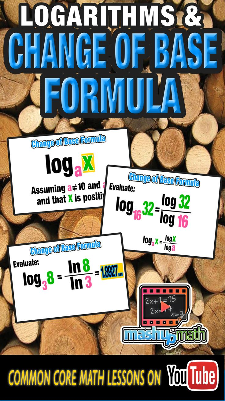 This lesson is for any Algebra II students out who are struggling with logarithms. Understanding the change of base formula is super important and will help you take your log game to the next level. Let us teach you how to use it in this animated lesson. Want more video lessons, check out and subscribe to our YouTube channel-we add new lessons every week! :)