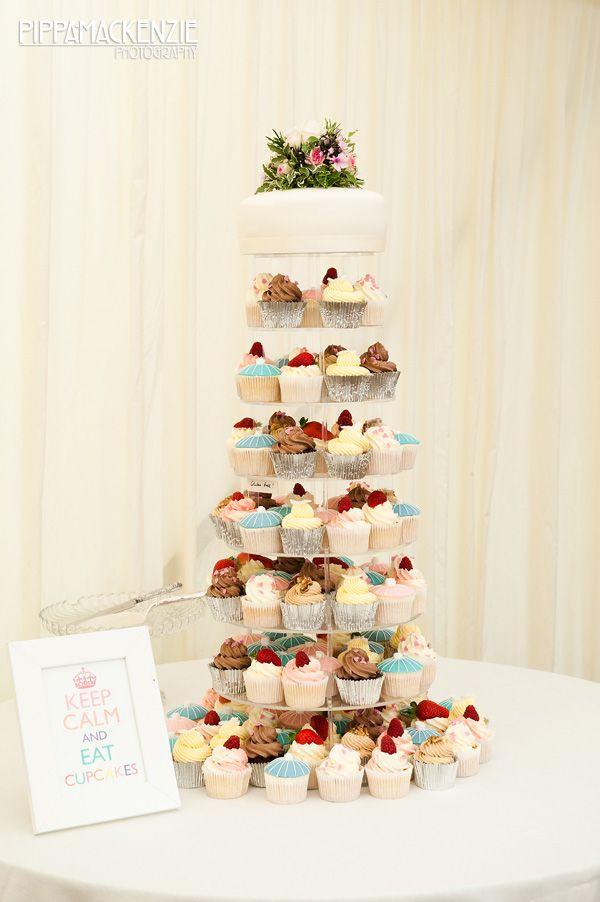 Love this cupcake tower!! Too cute.