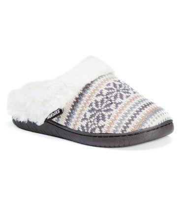 White Fair Isle Suzanne Slipper #zulily #zulilyfinds | Slippers ...