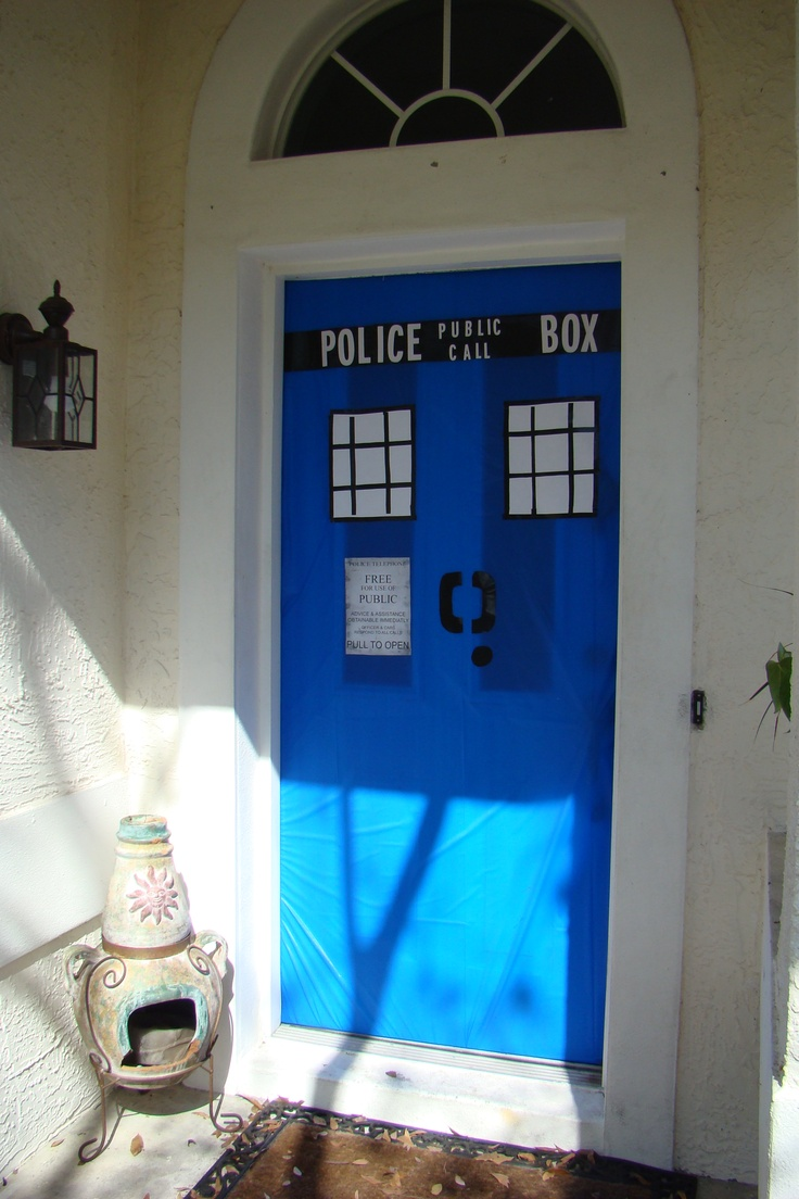 We Made This TARDIS Front Door For Our Doctor Who Birthday Party. Part 72