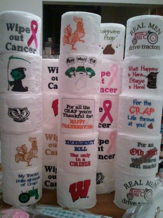 Embroidered toilet paper - need TP hibird357@gmail.com