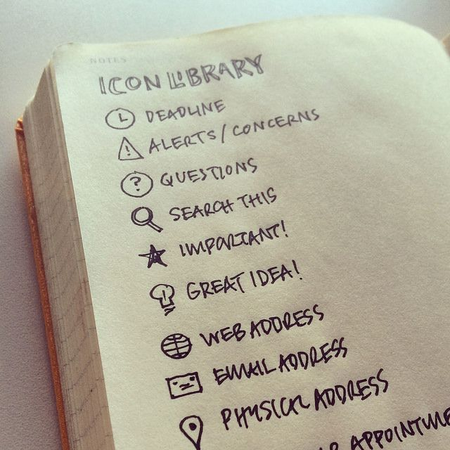 Oh, these could make the cutest Bullet Journal icons ever!  (If I can draw them, that's it...)