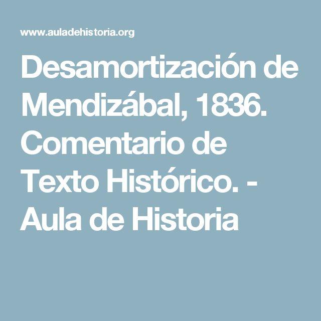 Desamortización de Mendizábal, 1836. Comentario de Texto Histórico. - Aula de Historia