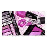 Rosa Glitter-Palette für freiberufliche Maskenbildner-Visitenkarte | Zazzle – Make Up