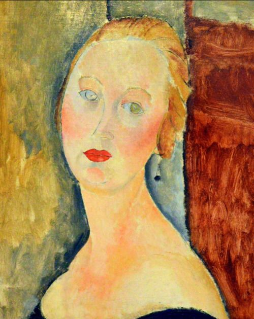 art-centric:  Amedeo Modigliani- Femme blonde - portrait de Germaine Survage