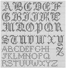 Afbeeldingsresultaat voor alfabet in kruissteek patroon