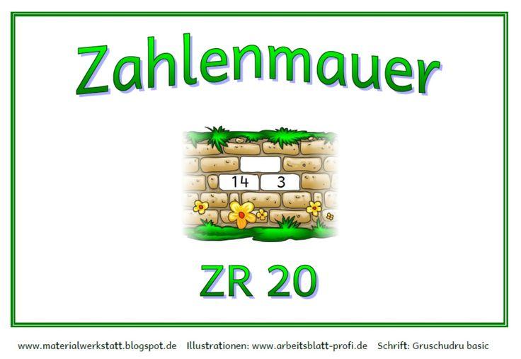 Materialwerkstatt: Zahlenmauer-Kartei ZR 20