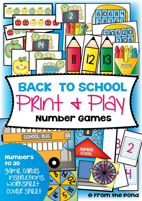 Back to School Math Games Center