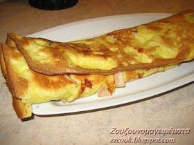 Κρέπα φούρνου! Για το χυλό: 130 γρ αλεύρι 1 φλιτζάνι περίπου 300 γρ γάλα 1 αυγό 1 κ,σ βιτάμ λιωμένο 1 κγλ αλάτι Για τη...
