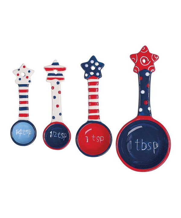 Love this Flags Flying Measuring Spoon Set by Boston Warehouse on #zulily! #zulilyfinds