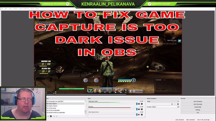 OBS game capture picture is is too dark issue and how to (possibly) fix in OBS