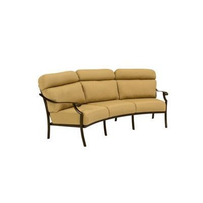 Tropitone Montreux II Patio Sofa with Cushions Color: Parchment, Fabric: Sparkling Water