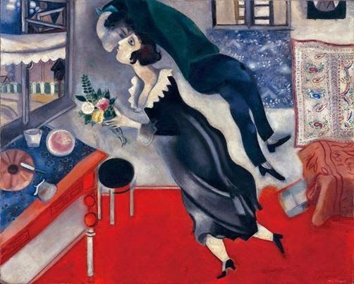 Rouge et Noir a Badem Ciflik: Chagall - The Birthday (1917)