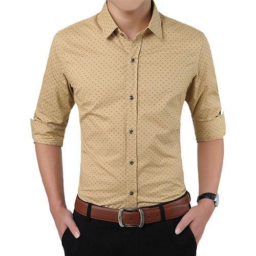 2017 New Autumn Fashion Brand Men Clothes Slim Fit Men Long Sleeve Shirt Men Polka Dot Casual Men Shirt Social Plus Size M-5XL