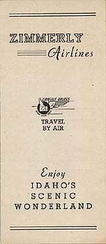 Empire Air Lines (2) - Zimmerly Airlines Schedule  October 2, 1945
