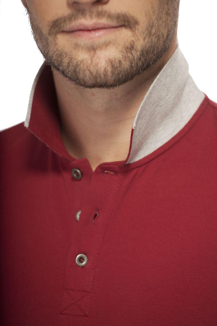 Polo confo mais chic / Casual but classy red polo https://www.tristanstyle.com/fr/hommes/t-shirts/polo-essentiel-avec-details-contrastants/34/hv020d0792z/#RG10