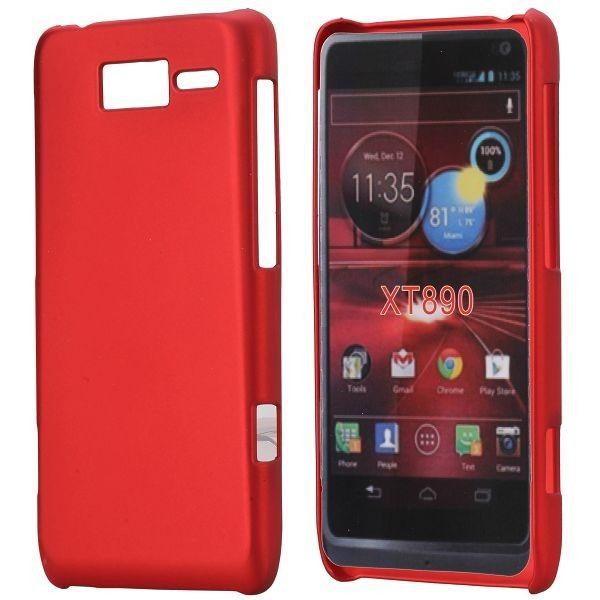 Hard Shell (Punainen) Motorola RAZR i Suojakuori