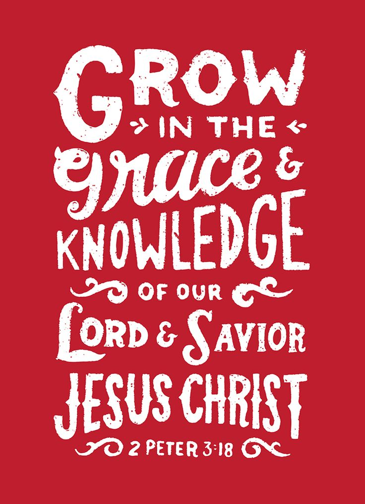2 Peter 3:18 (NKJV) - but grow in the grace and knowledge of our Lord and Savior Jesus Christ. To Him be the glory both now and forever. Amen.