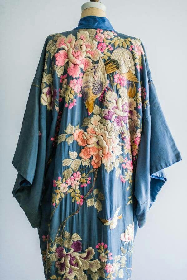 long kimono robe Indian Floral Kimono kimono cardigan vintage kimono robe floral kimono hippie kimono Green kimono bath robe