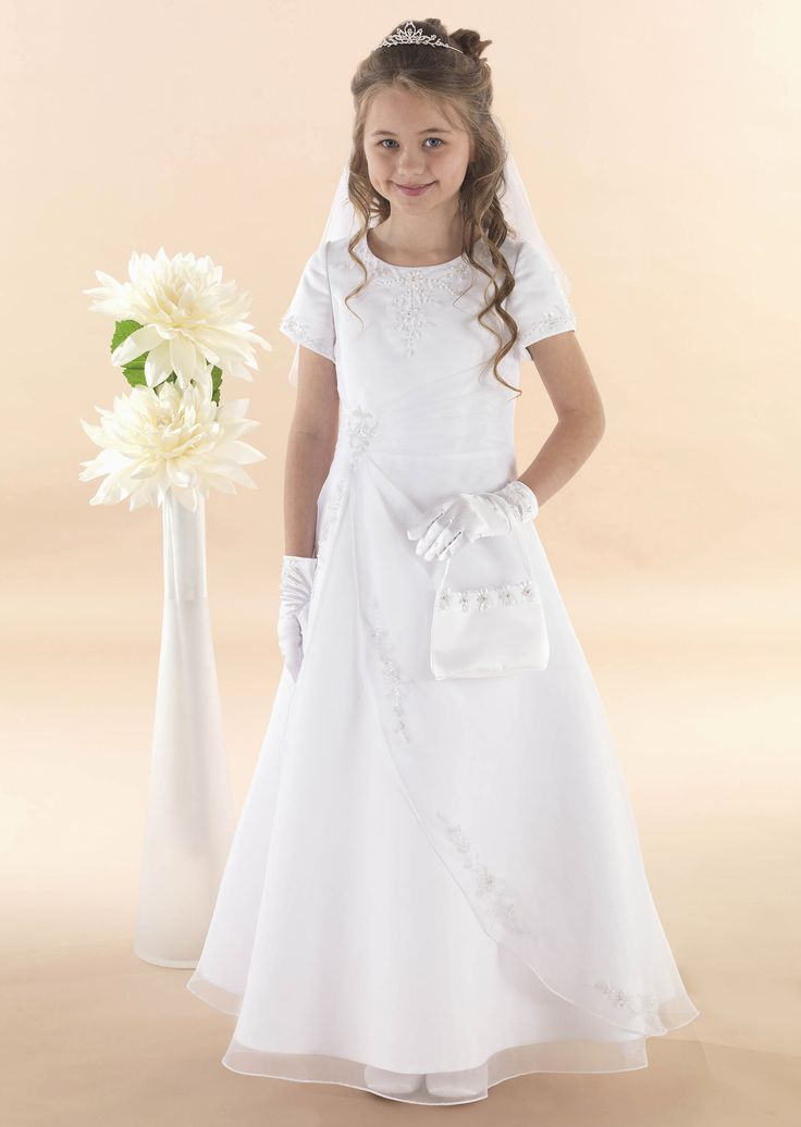 "Apron Style Communion Dress ""Olivia"""