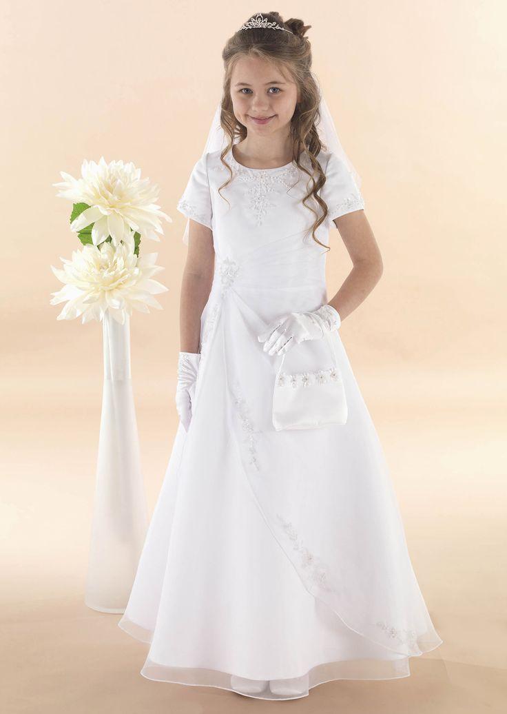 "Apron Style Communion Dress ""Olivia"""