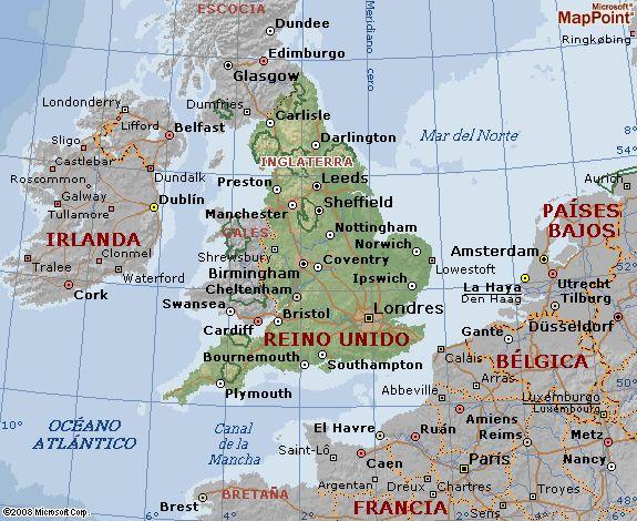 mapa do Reino Unido/Irlanda