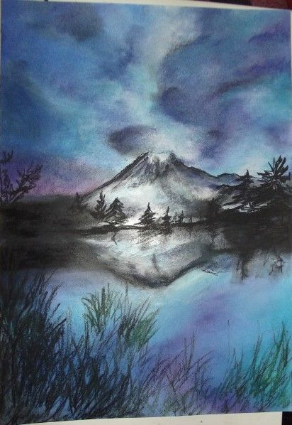 montagne en 2019 | water colors | Dessin pastel, Art ...