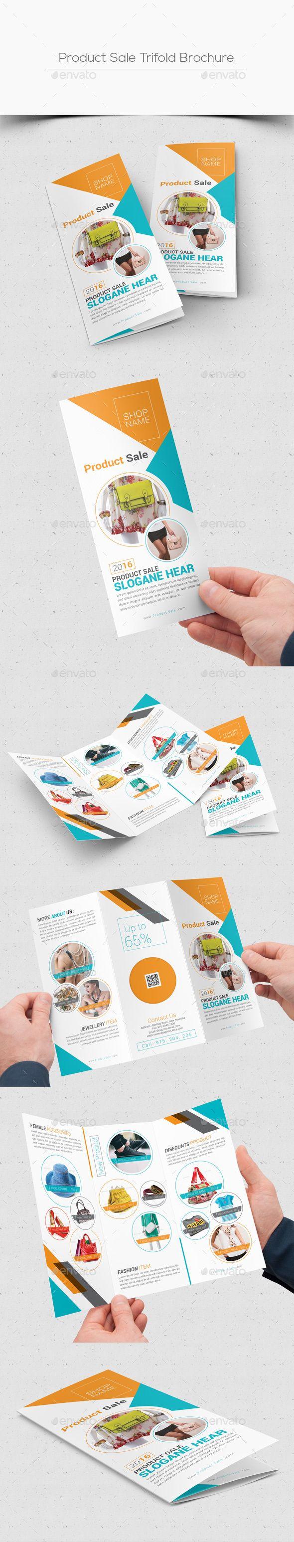 Product Sale Trifold Brochure  — PSD Template #online shop brochure #8.5x11…