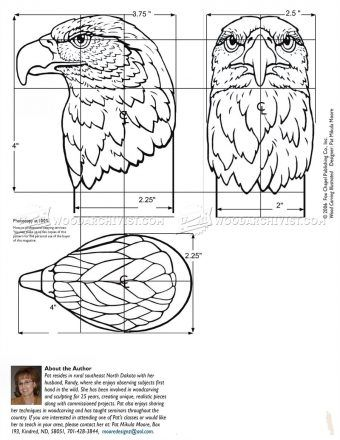 #2138 Carving Eagle Bust - Wood Carving
