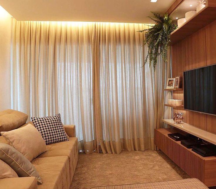 25 melhores ideias de decora o sala tv e jantar no pinterest for Sala de estar kawaii