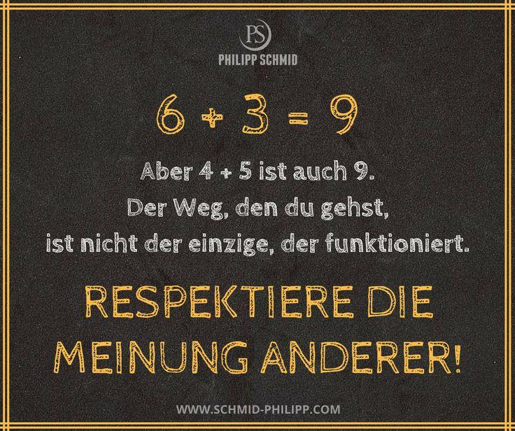 6 + 3 = 9 Aber 4 + 5 ist auch 9. Der Weg, den du gehst, ist nicht der einzige, der funktioniert. Respektiere die Meinung anderer!