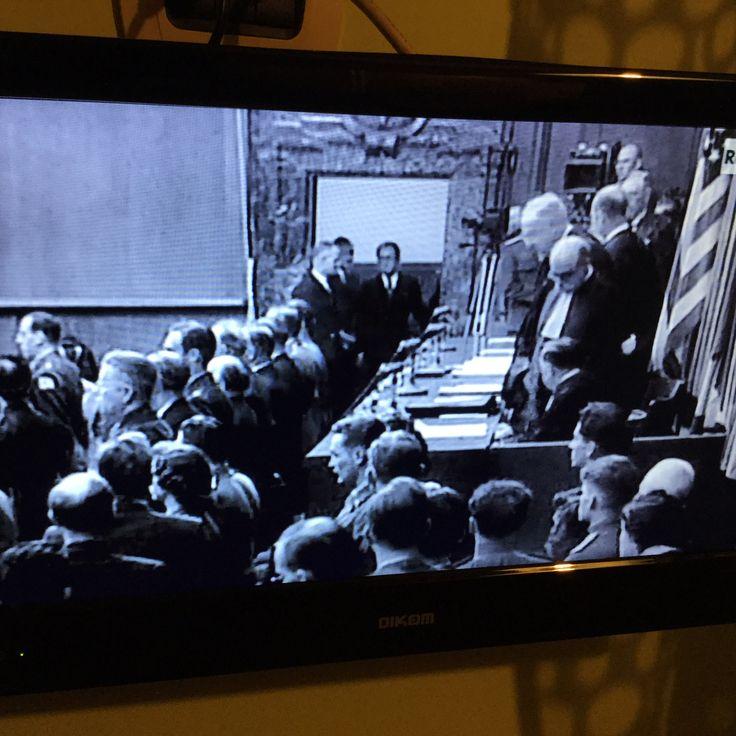 Su @RaiStoria adesso la seconda parte dello speciale sul processo di #Norimberga. #SpecialiStoria