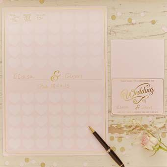 This beautiful wedding guest book poster is a stunning way to remember the big day instead of a traditional guest book.