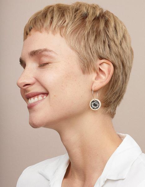 Aarikka Moomin Fairytale Garden loop earrings: Moomin Fairytale Garden loop earrings
