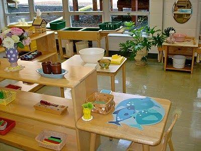montessori classroom - practical life.