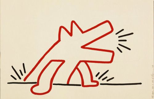 Keith Haring - Red Dog for Landois, 1987