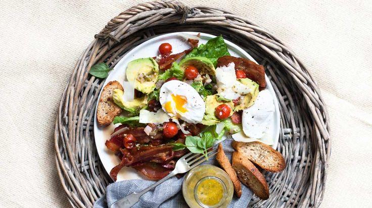 Balsamic Tomato and Maple Glazed Bacon Salad #harvesttotable #recipe #gardening #organic #growyourown