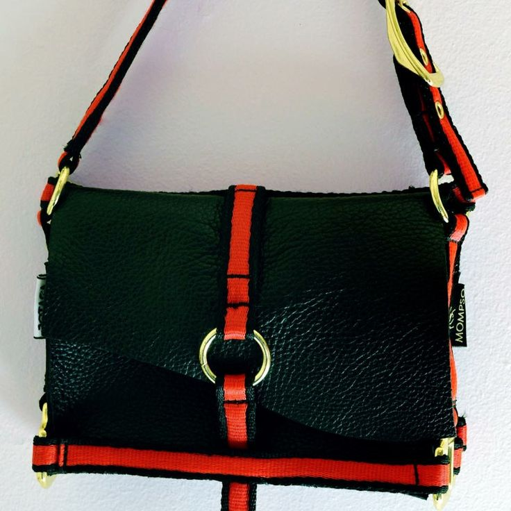 The Equestrian Bag  2014 Made by JOTACA Red/black foal bridle and leather.