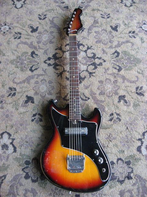 1960s Teisco Electric Guitar Vintage Made In Japan Mij Sunburst
