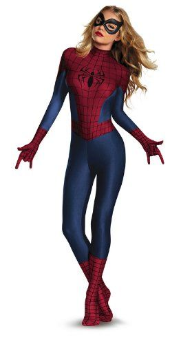 Disguise Women's Marvel Spider-Man Sassy Bodysuit, Blue/Red/Black, Small/4-6