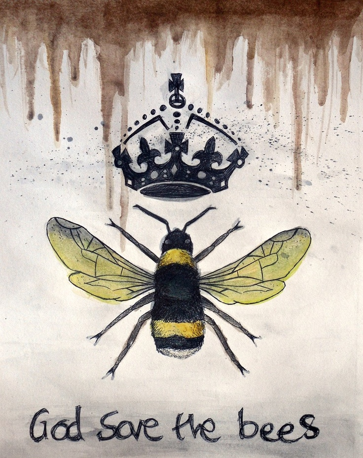 """""""God Save The Bees"""" by Jack Cripps This was inspired by Einstein's idea that """"If the bee disappeares off the surface of the globe then man would only have four years of life left. No more bees, no more pollination, no more plants, no more animals, no more man."""""""