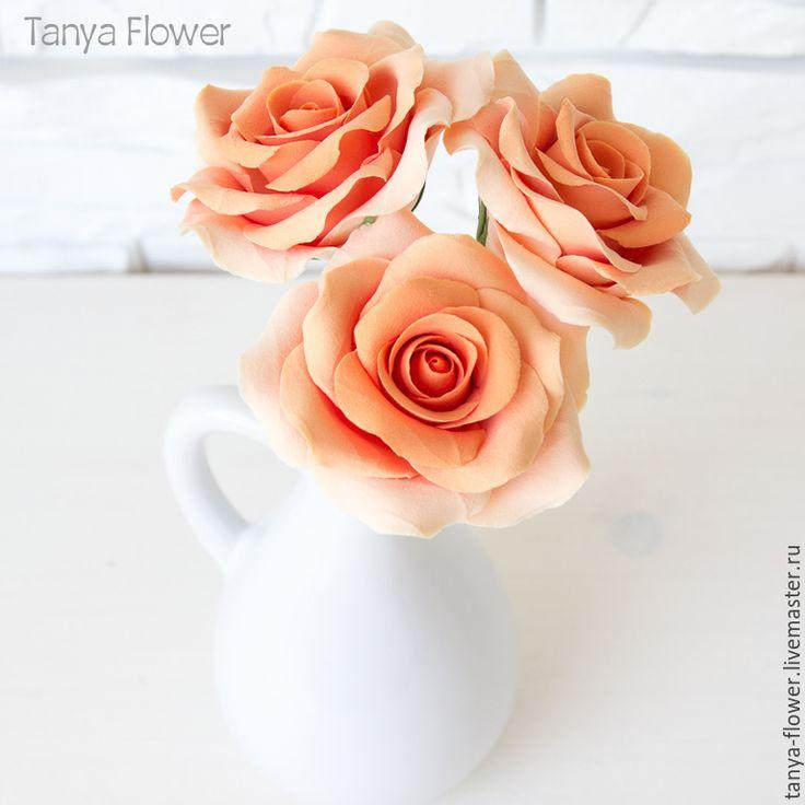 Купить Букет садовых роз - цветы, цветы ручной работы, цветы из полимерной глины, флористика