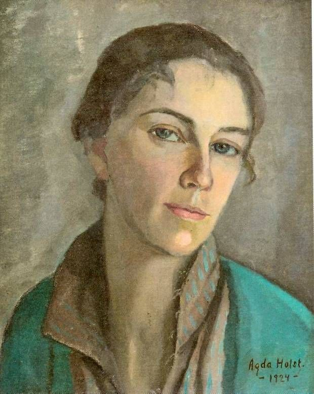 salantami:    Agda Holst (Swedish, 1886–1976), Self-portrait, 1924.