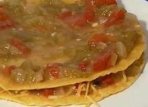 New Mexico Green chile enchiladas sauce~~  I also add a pinch of oregano.  Use it with chicken, string beef, hamburger or just the longhorn cheese. Use it to make flat or rolled enchiladas with corn tortillas~~  Our chili dishes have more of the Indian influence with the herbs we use.