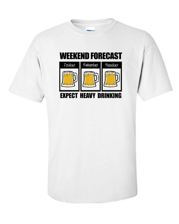 Beer T-Shirt Drink Drunk Alcohol Funny Forecast by 969Tshirts