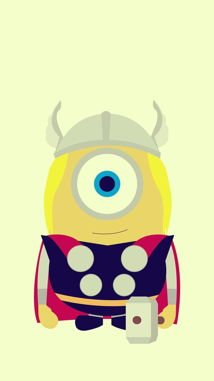 Minions Iphone X Wallpaper Funny Thor Minion Avengers Iphone 6 Plus Wallpaper Hd