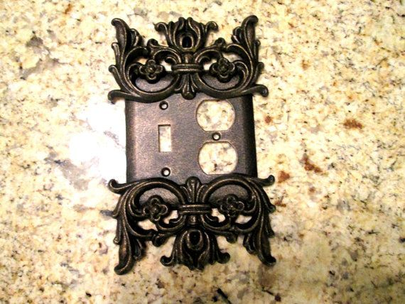 315 best swichsocket images on pinterest apartment therapy metal single light switch and outlet combo plate cover free usa shipping bathroom mozeypictures Images