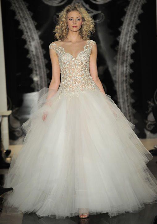 New reem acra wedding dresses nearly nude illusion for Nearly new wedding dresses